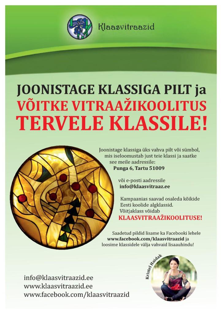 Klaasikunst OÜ algatas täna Eestimaa koolides kampaania!