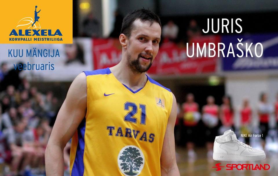 b3880093b0b Alexela KMLi veebruari parim mängija on Juris Umbraško