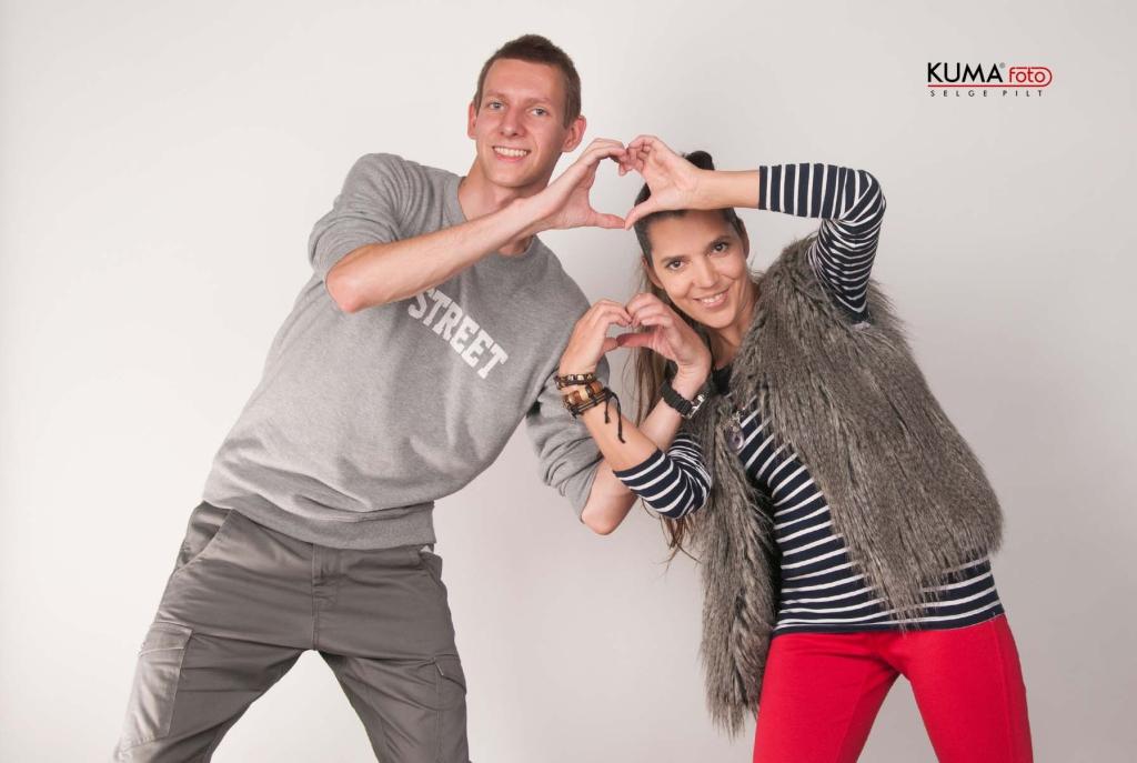Kaspar Aren ja Monika Kuzmina