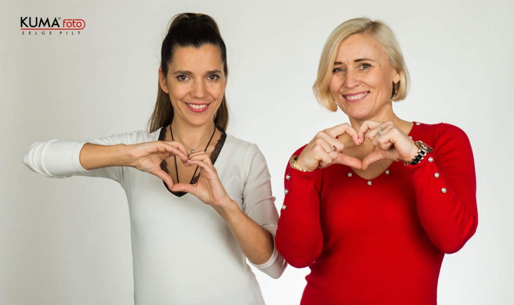 Monika Kuzmina ja Kaidi Karilaid